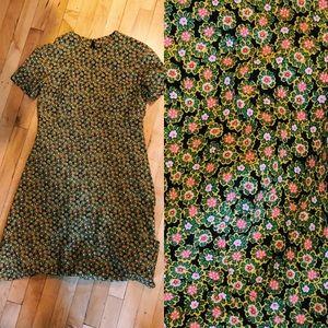 Vintage 90s Ditsy Floral Shift Dress